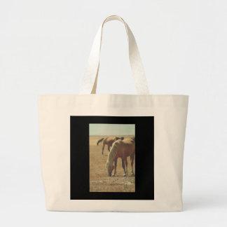 ONE EARED PALOMINO WILD HORSE JUMBO TOTE