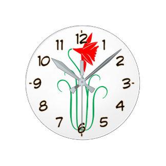 One ELEGANT Flower Show Round Clock