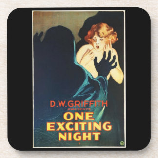 One Exciting Night Vintage Movie Coasters