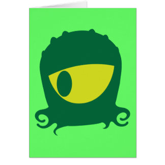 One eyed Alien creature Card