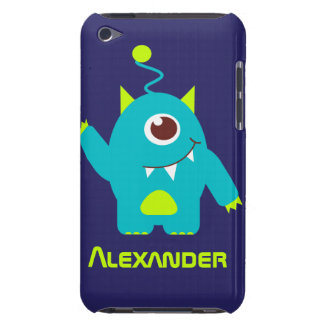 One eyed alien kids blue green name ipod case