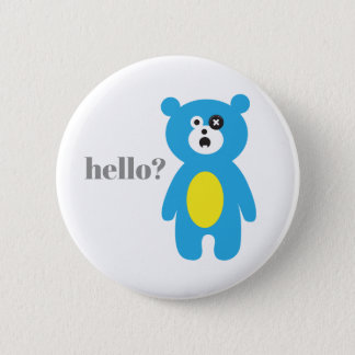 one-eyed cute bear 2 inch round button