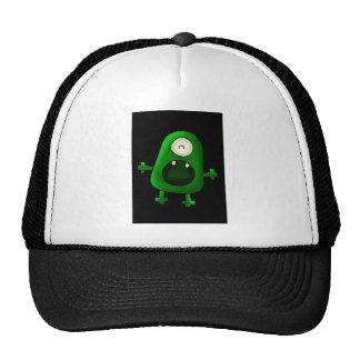one eyed green monster trucker hat