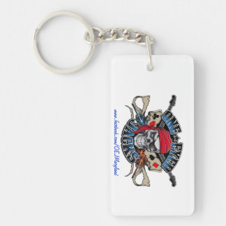 One Eyed Jacks Keyring (Rectangle) Single-Sided Rectangular Acrylic Keychain