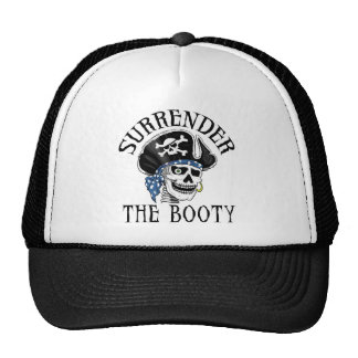 One-eyed Pirate Skull and Crossbones Trucker Hat