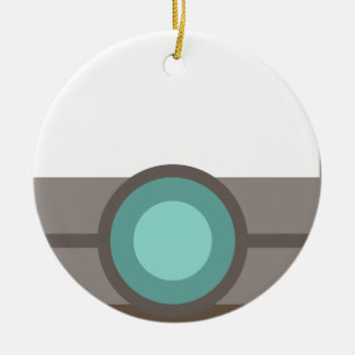 One Eyed Robot Ceramic Ornament