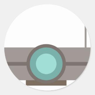 One Eyed Robot Classic Round Sticker