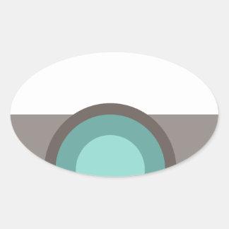 One Eyed Robot Oval Sticker