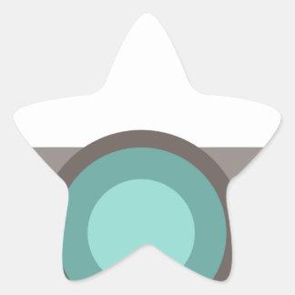 One Eyed Robot Star Sticker