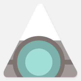 One Eyed Robot Triangle Sticker