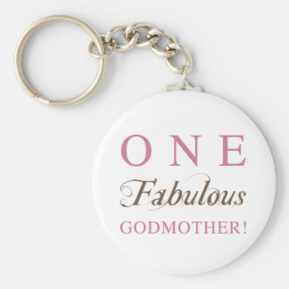 One Fabulous Godmother Gifts Basic Round Button Keychain