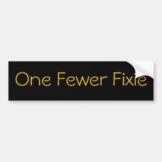 One Fewer Fixie Bumper Sticker