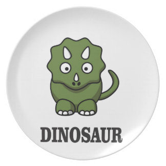 one fine dino plate