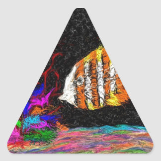 One Fish Of Many Triangle Sticker