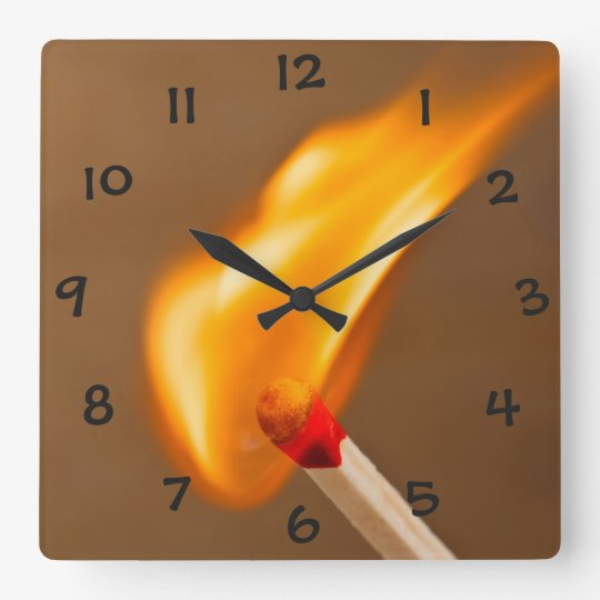 One Flame of Fire Clock