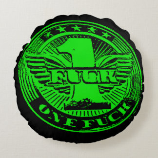 One Flying Fvck Round Pillow