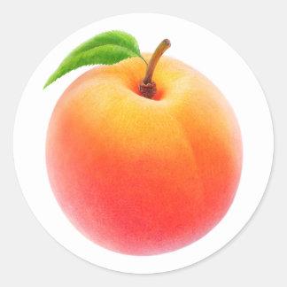 One fresh peach round sticker