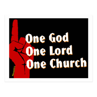 One God, One Lord, One Church Christian gift Postcard