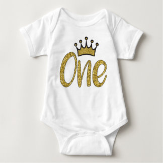 One Gold Princess Crown Bodysuit
