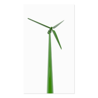 One green windmill business card