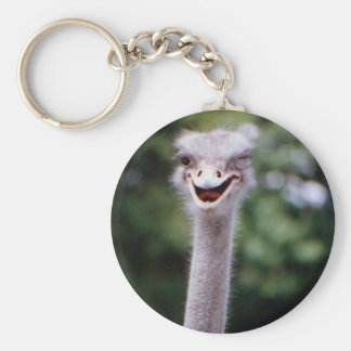 One Happy Ostrich Keychain