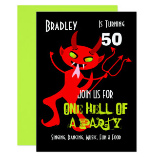 One Hell Of A Party Celebration Party Personalized Card