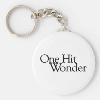 One Hit Wonder Basic Round Button Keychain