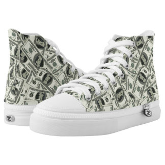 One Hundred Dollar Unisex High Top Zipz Shoes