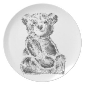 One Hungry Little Bear Plate