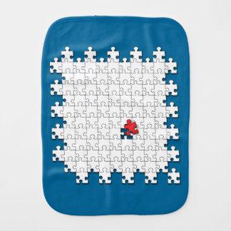 One in 110 - Autism Awareness Burp Cloths