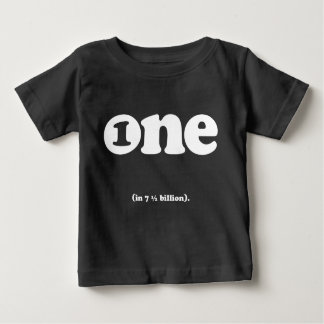 one in (7.5) billion birthday tee
