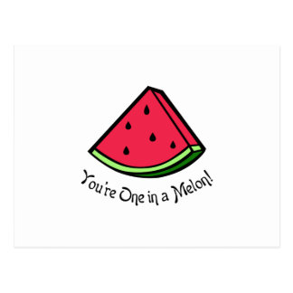 ONE IN A MELON APPLIQUE POSTCARD