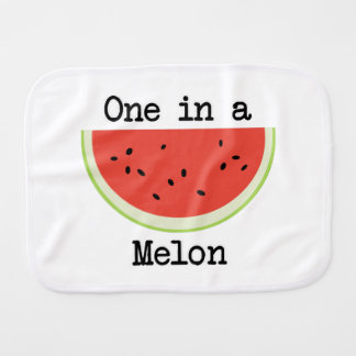 One in a Melon Burp Cloth