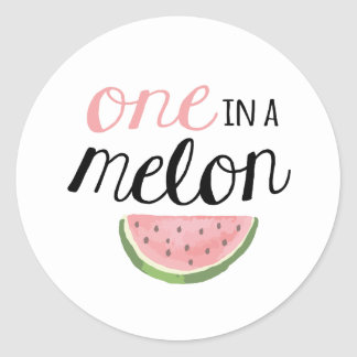 One in a Melon, First Birthday Sticker