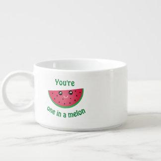 One In A Melon Funny Cute Kawaii Watermelon Bowl