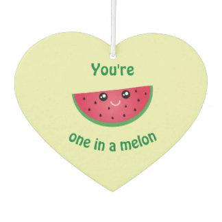 One In A Melon Funny Cute Kawaii Watermelon Car Air Freshener