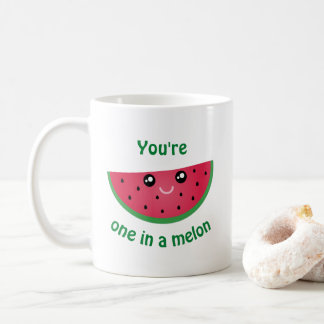 One In A Melon Funny Cute Kawaii Watermelon Coffee Mug