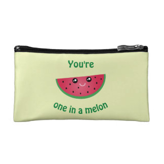 One In A Melon Funny Cute Kawaii Watermelon Cosmetic Bag
