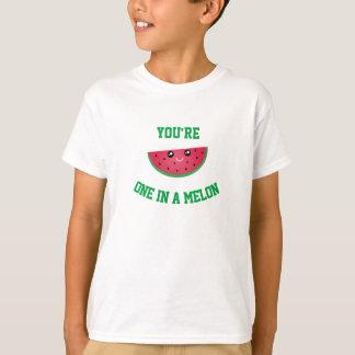 One In A Melon Funny Cute Kawaii Watermelon T-Shirt