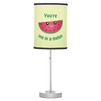 One In A Melon Funny Cute Kawaii Watermelon Table Lamp