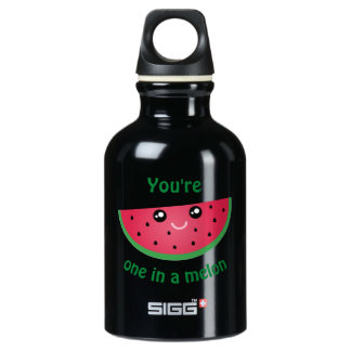 One In A Melon Funny Cute Kawaii Watermelon Water Bottle