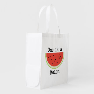 One in a Melon Reusable Grocery Bag