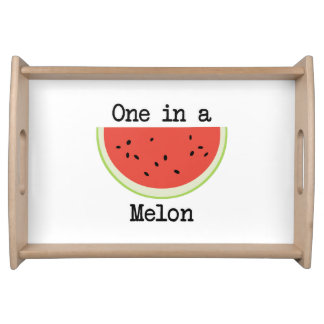 One in a Melon Serving Tray