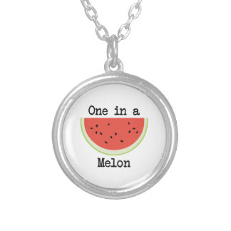 One in a Melon Silver Plated Necklace