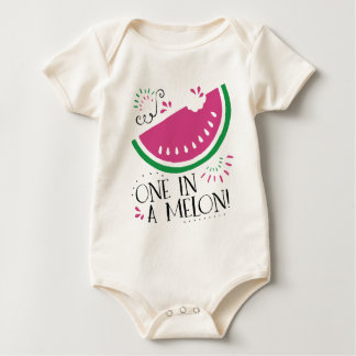 One in a Melon- Watermelon bodysuit