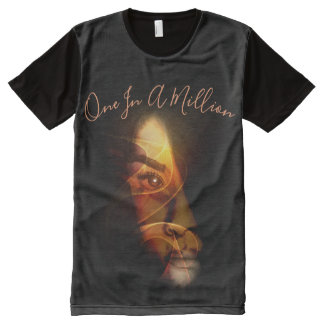 One in a Million Abstract Face All-Over-Print T-Shirt