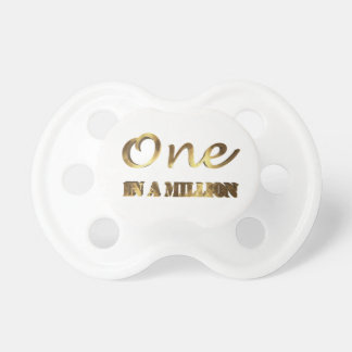 One in a million Elegant Gold Typography Pacifier