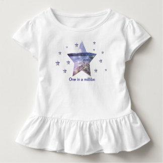 One in as million|Stars Toddler Ruffle Tee