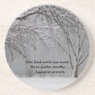 One kind word-Japanese Proverb Coaster