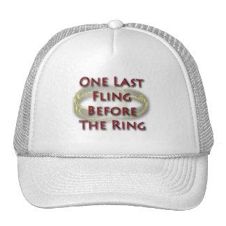 One last fling before the ring design trucker hat
